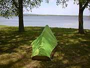 女満別 湖畔 キャンプ場 テント