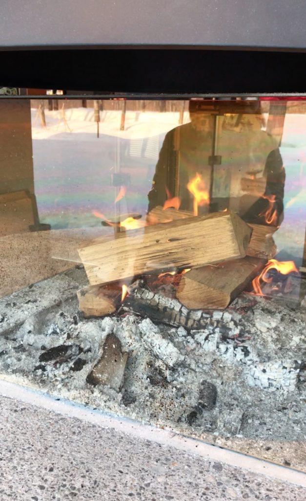 江別蔦屋書店の暖炉